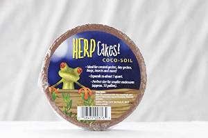 Caribsea Herp Cakes Coco Fiber Disks For Reptiles, Amphibians, And Insects 1qt {bin-b}